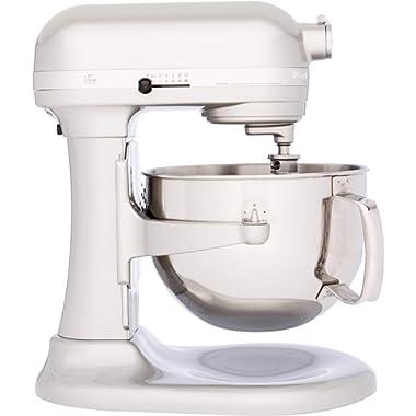 Kitchenaid Professional 600 Stand Mixer 6 quart, Sugar Pearl (Certified Refurbished)