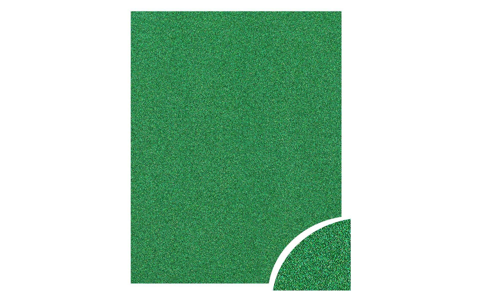 Paper Accents Cdstk Glitter 22x28 85lb Green UPC
