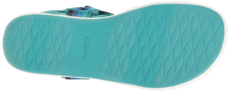 CLARKS Women's Brizo Ravena Flat Sandal B01IAVZ17M 5 B(M) US|Blue