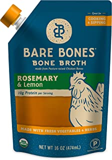 product image for Organic Chicken Bone Broth by Bare Bones - Organic, Chicken Bone Broth, Rosemary & Lemon Flavor, Protein-rich, 16 oz (12-pack)