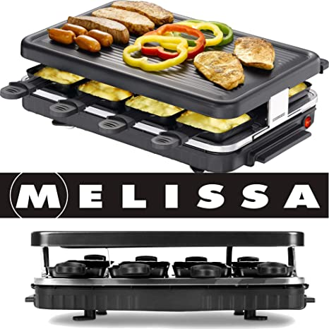 Raclette Table Cooker For 8 Persons Grill Option Melissa