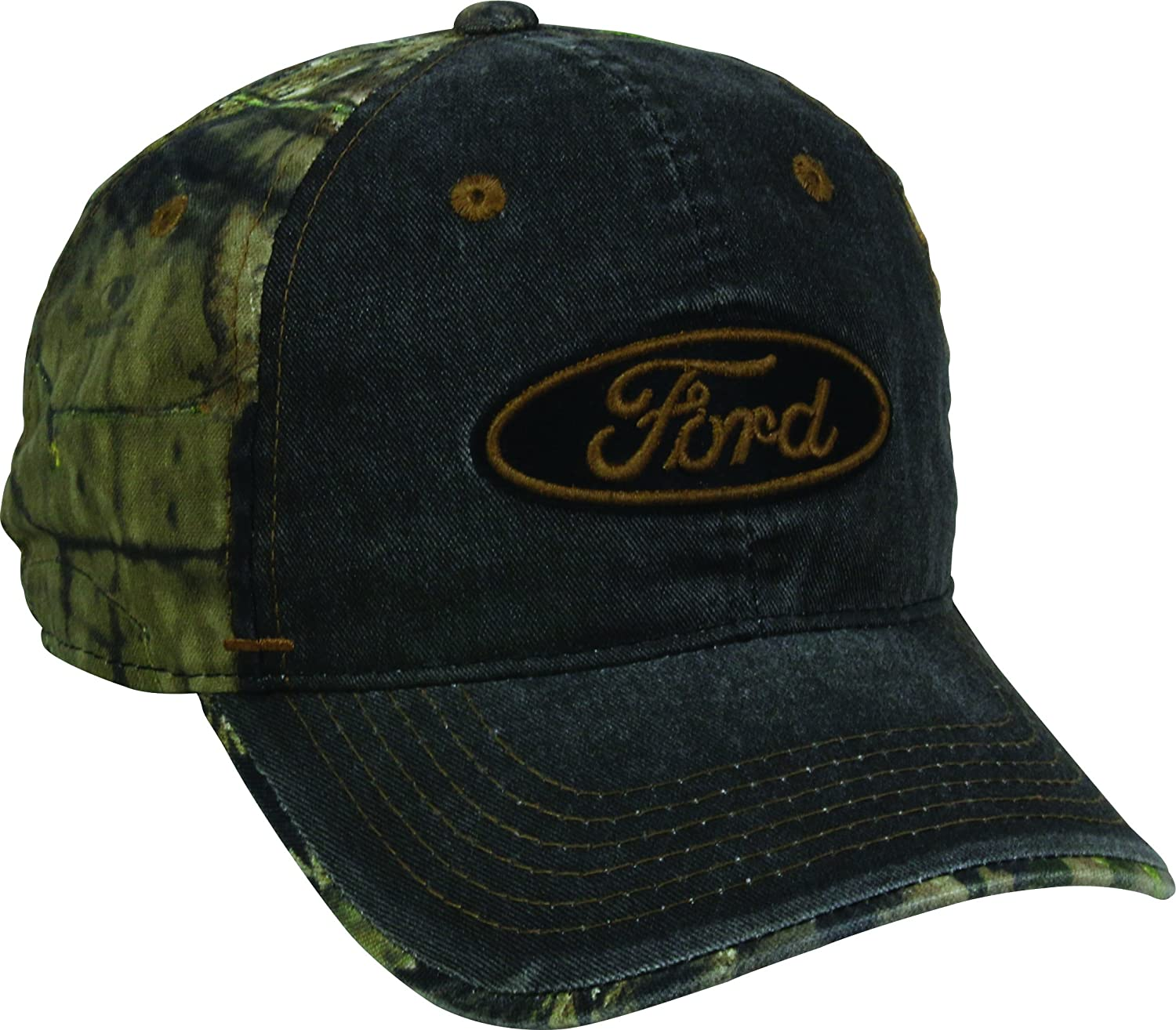 Amazon.com : Outdoor Cap Mens Ford Weathered Camo Back Cap, Black/Mossy Oak Country, One Size : Sports & Outdoors