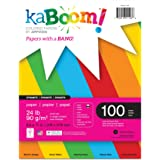 """Kaboom Dynamite Primary Assorted Colored Paper for Creative Printing 8.5"""" x 11"""" 100 Sheets 24# 5 Primary Colors in each pack(20530)"""