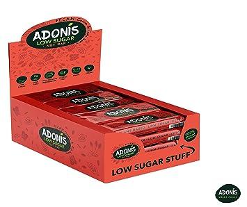 Adonis Low Sugar - Barritas de Pacanas Crujiente Sabor de Cocoa | 100% Natural,