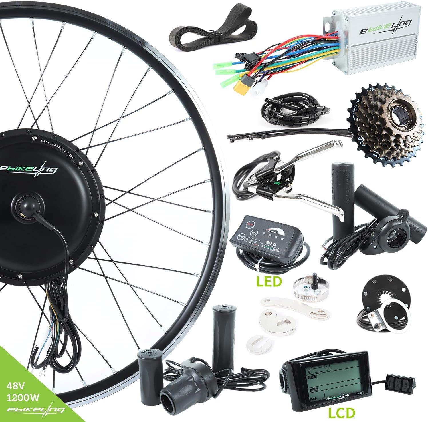 EBIKELING - Kit de conversión de Bicicleta eléctrica (48 V, 1200 W ...