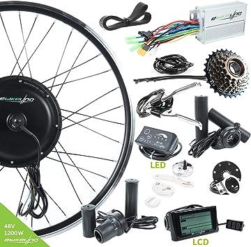 EBIKELING - Kit de conversión de Bicicleta eléctrica (48 V, 1200 W): Amazon.es: Deportes y aire libre