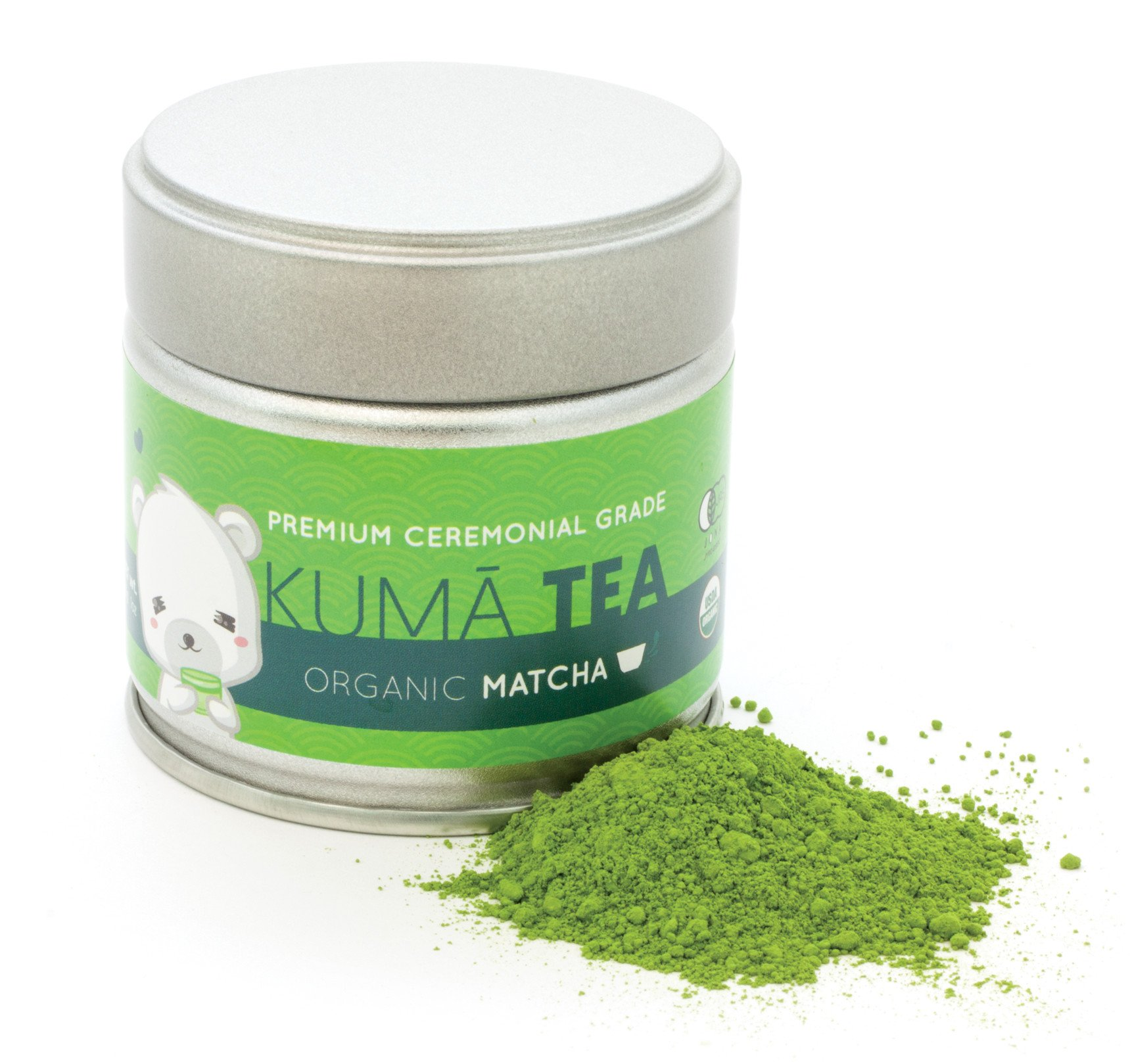 Kuma Tea - Organic Japanese Matcha Green Tea Powder - Premium Ceremonial Grade (30g)