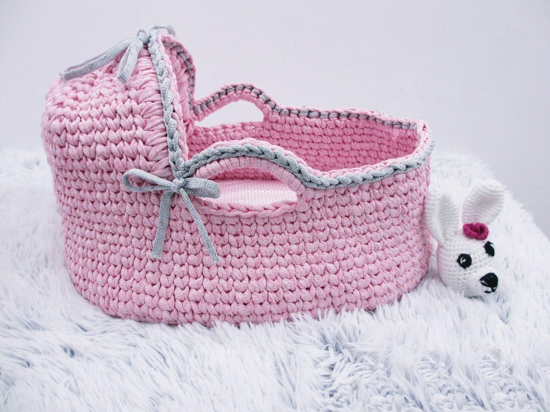Amazon Com Crochet Basket Newborn Moses Basket Baby Bassinet Baby