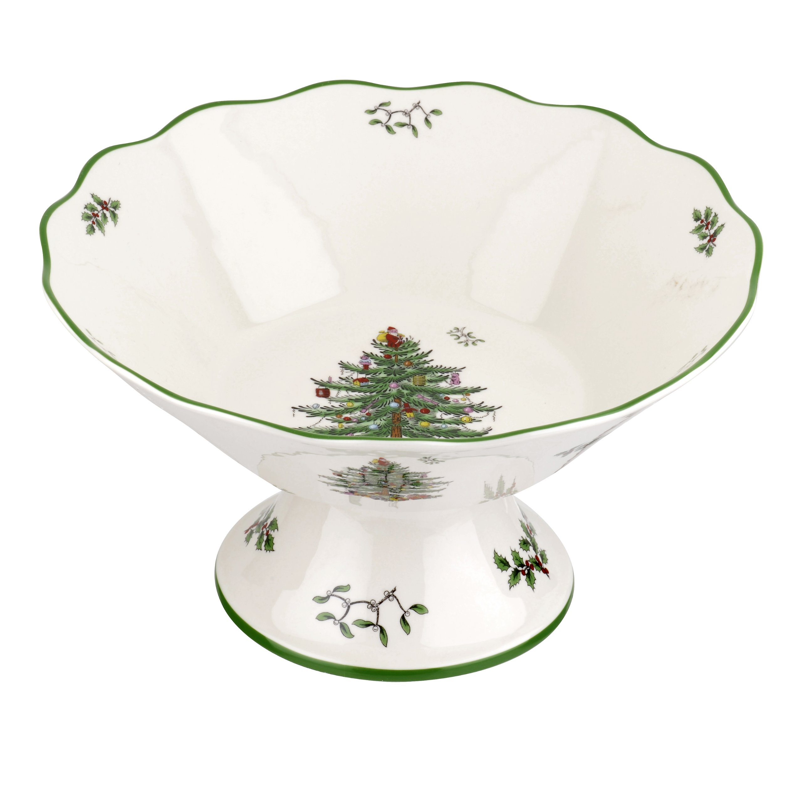 Spode Christmas Tree 75th Anniversary Footed Compote Serving Bowl