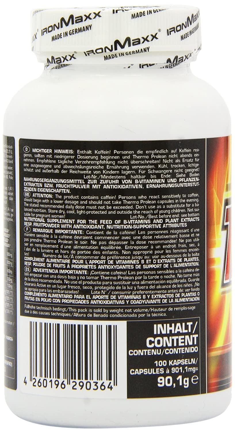 Amazon.com: Ironmaxx 860mg Thermo Prolean Capsules - Pack of 100 Capsules: Health & Personal Care