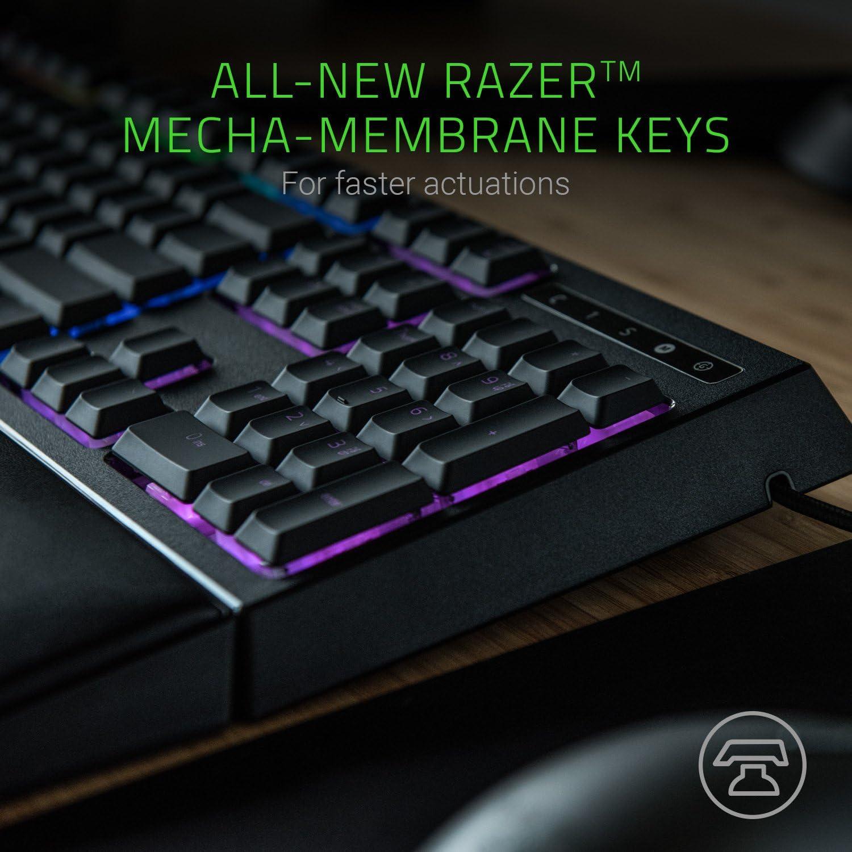 Razer Ornata Chroma Gaming Keyboard: Hybrid Mechanical Key Switches - Customizable Chroma RGB Lighting - Individually Backlit Keys - Detachable Plush Wrist Rest - Programmable Macro Functionality: Computers & Accessories