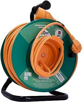 Chacon 89076 - Carrete alargador de cable para jardín, con ...