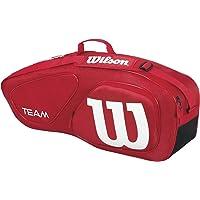 Wilson WRZ857603 Maleta Deportiva Team 2, color rojo (Diseñado para soportar hasta 3 raquetas)