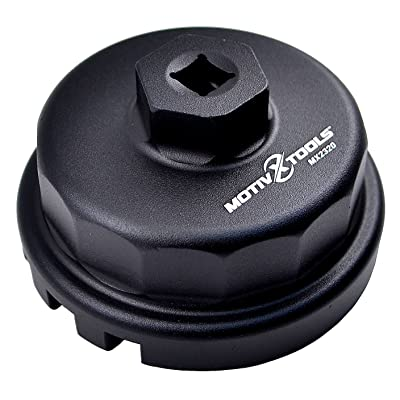 Motivx Tools Oil Filter Wrench for Toyota, Lexus, and Scion 2.0 To 5.7 Liter Engines with 64mm Cartridge Style Oil Filter System - Perfect for Camry, RAV4, Tacoma, Highlander, Sienna, Tundra, and More: Automotive