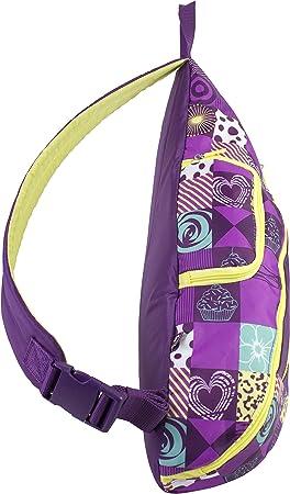 Purple Blocks Print Eastsport Crossbody Trapezoid Backpack