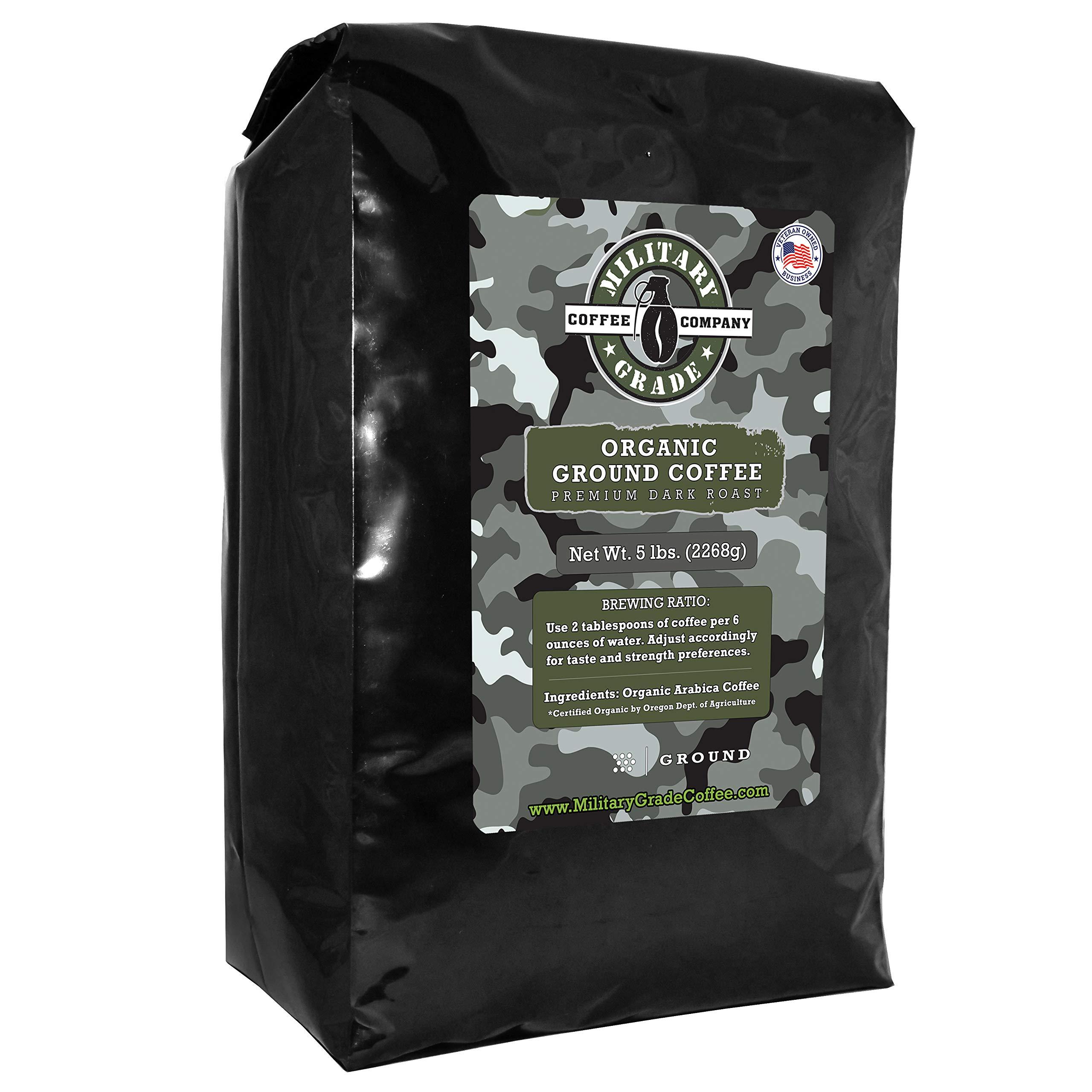 CDM product Military Grade Ground Coffee, The Strongest Coffee On The Planet, Organic - 5 Pound Bulk Bag big image