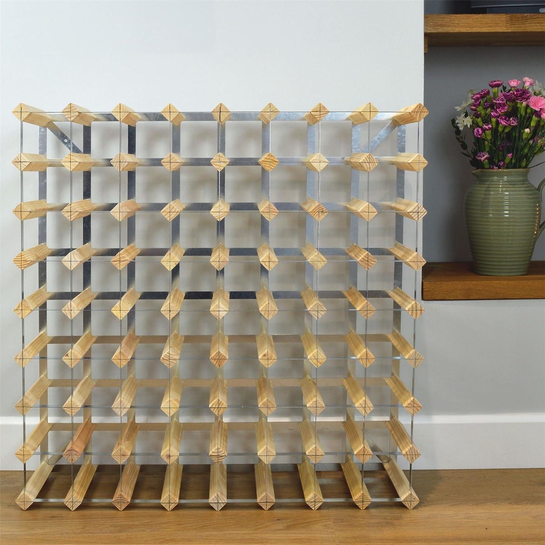 Fully Assembled Light Wood Harbour Housewares 72 Bottle Wine Rack