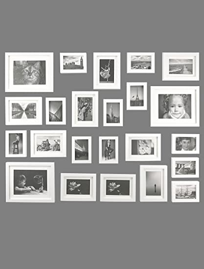 Amazon Ray Chow White Photo Picture Gallery Wall Frame Set