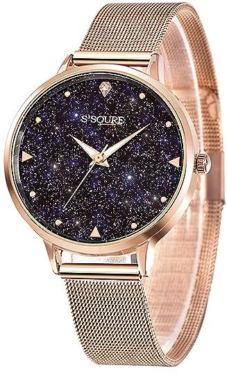 low priced d5937 62469 S2SQURE 腕時計 レディース 星 日本製クオーツ おしゃれ 女性 ステンレス ウォッチ ローズゴールド 夜光 (ゴールド)