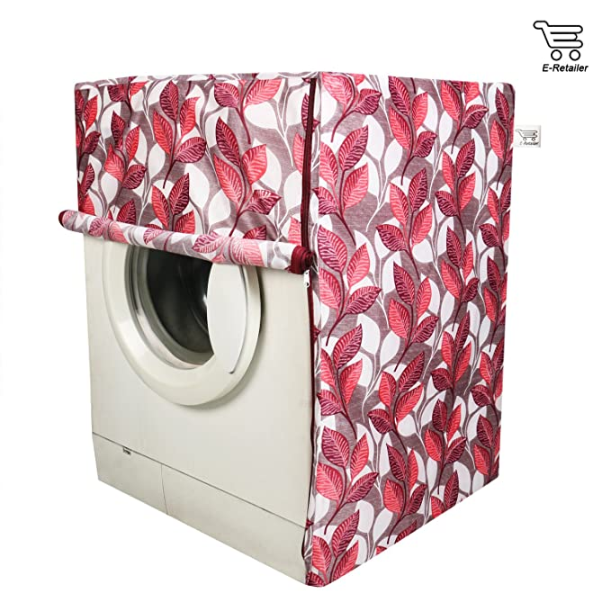 E Retailer Front Load Washing Machine Cover Color  Pink, for Capacity 6 Kg to 7.5 Kg  Washing Machine Covers