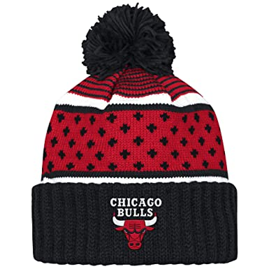 87c0643cfe6 Image Unavailable. Image not available for. Color  Mitchell And Ness Nba  Highlands Cuffed Knit Hat With Pom BULLS