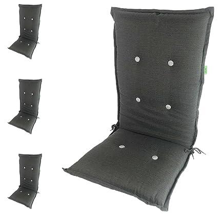 4 Pieza para sillón Cómodo Silla Cojín para sillas Plegables ...