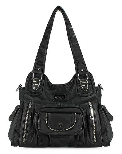 Scarleton Fashion Decorative Zipper Shoulder Bag H163501 - Black ...