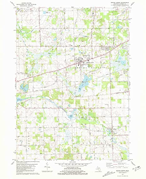Spring Arbor Michigan Map.Amazon Com Yellowmaps Spring Arbor Mi Topo Map 1 24000 Scale 7 5