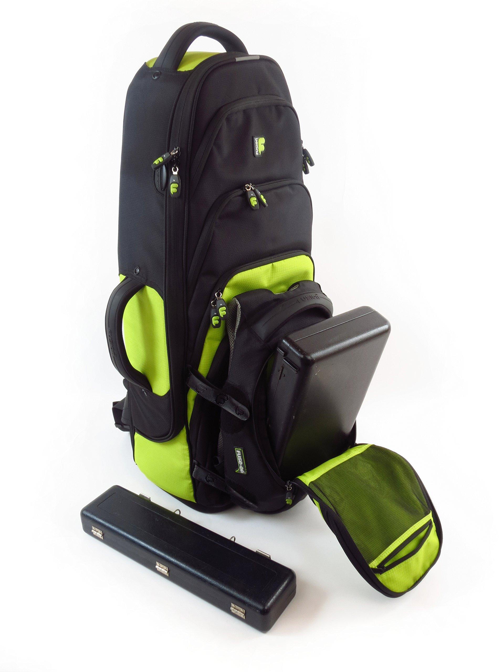 Fusion Premium Series (FB-PW-02-L) - Tenor Saxophone Gig Bag, Black/Lime by Fusion (Image #6)