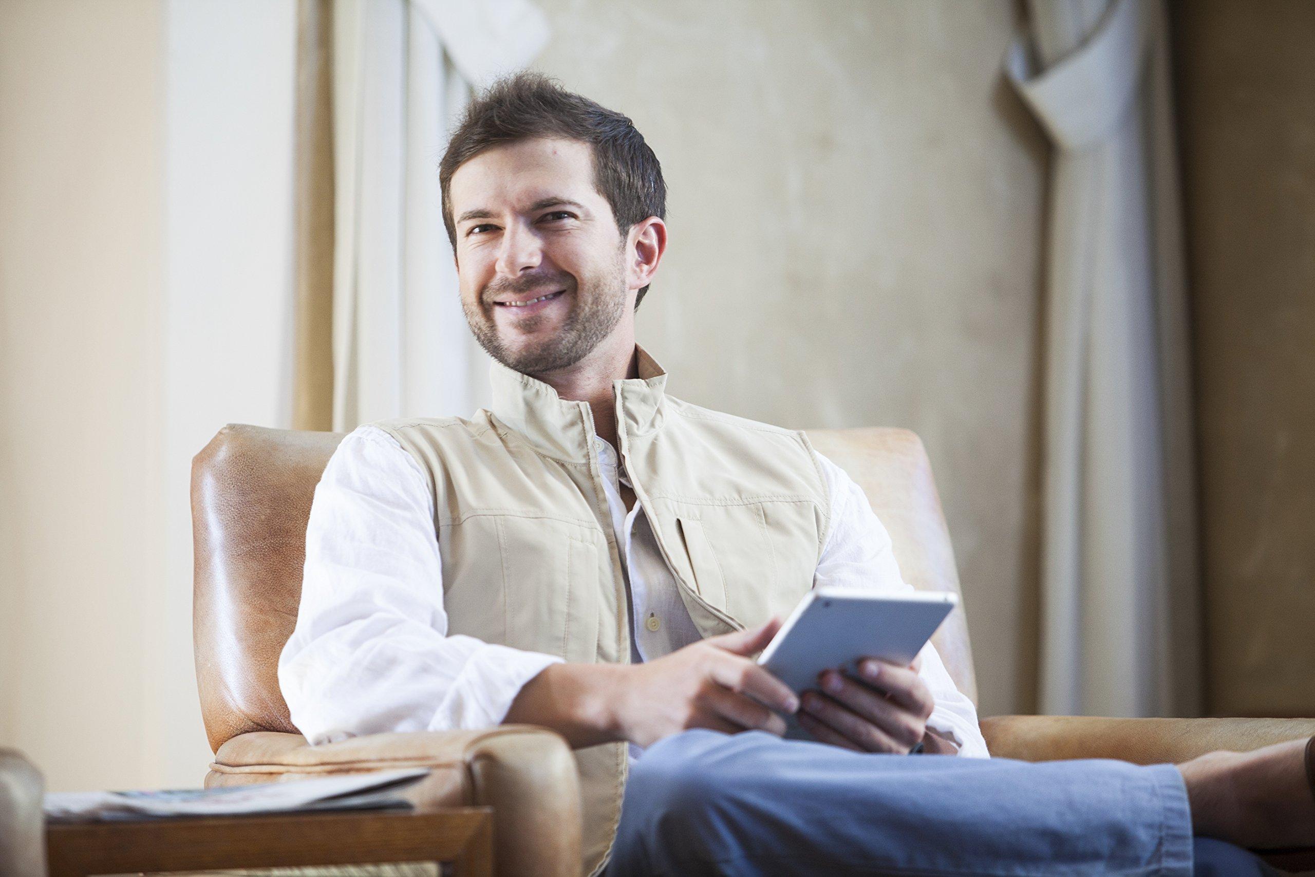 SCOTTeVEST Men's RFID Travel Vest - 26 Pockets – Travel Clothing Blk XXXL by SCOTTeVEST (Image #4)