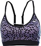 Nike Womens Dri-Fit Pro Indy Checker Training Sports Bra-Purple/Black-Medium