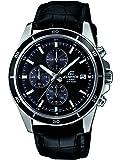 Casio - EFR-526L-1AVUEF - Edifice - Montre Homme - Quartz Analogique - Cadran Noir - Bracelet Cuir Noir