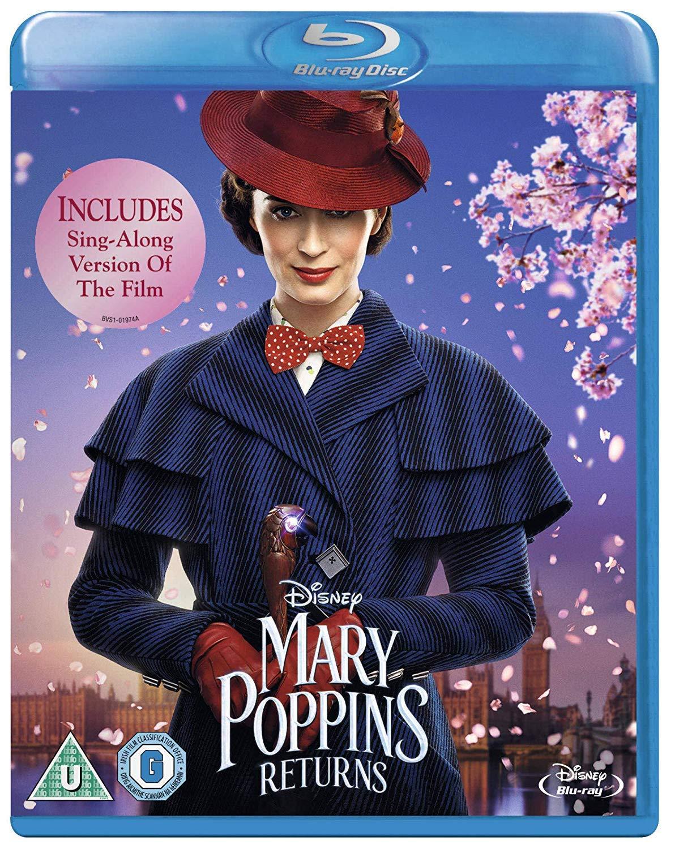 Amazon Com Mary Poppins Returns Blu Ray Emily Blunt Lin Manuel Miranda Ben Whishaw Rob Marshall Movies Tv