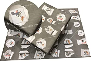 eVincE Tom & Jerry Recyclable Gift Wrapping Paper | Fun Facts for All Ages, Kids, Children, Adults, Fathers Day, All Occasion, Birthday, Anniversary, Boy & Girl Gifts | 10 Sheets (70x50 cms)