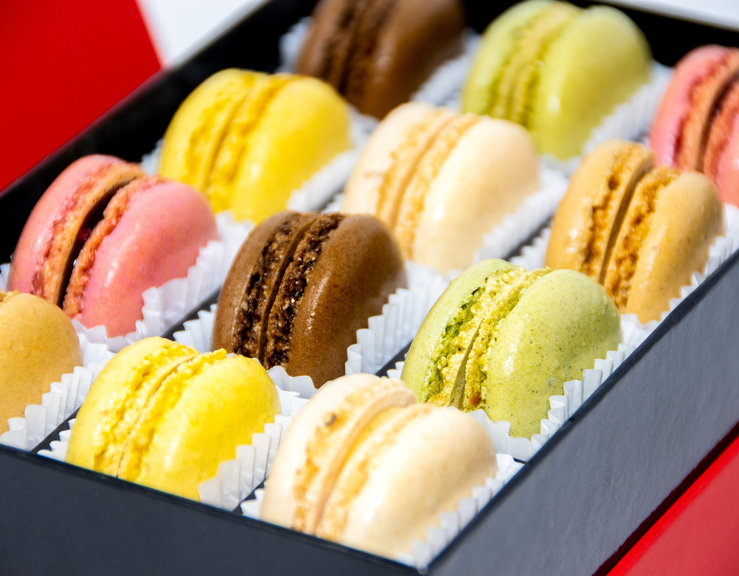French Almond Macarons Gift Box - 2 pack x 12 pcs - Non GMO, Assorted Macaroons Cookies - Imported From France by MARKY'S (Image #2)
