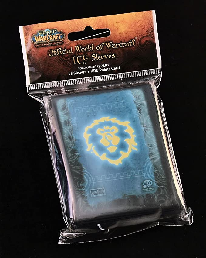 75 World of Warcraft Deck Protector card sleeves Alliance for WoW tcg cards