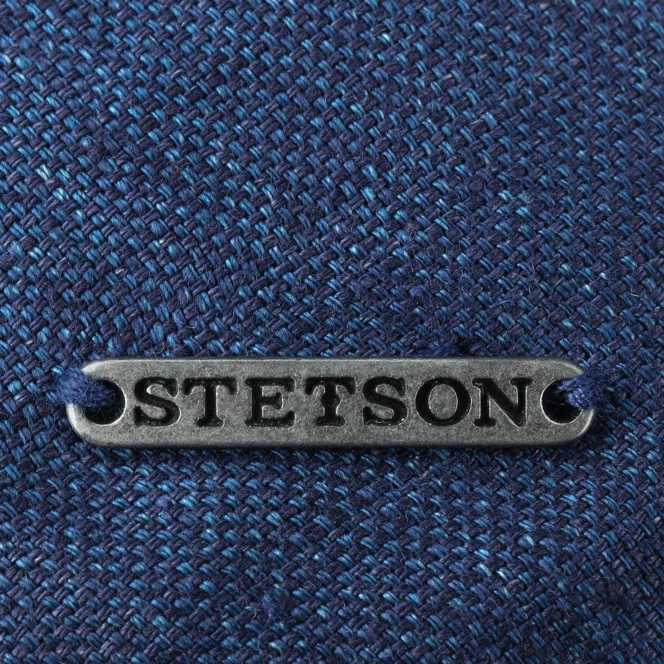Stetson Coppola Just Linen Uomo Fodera Primavera//Estate Made in The EU Berretto Estivo Lino Cappello Piatto con Visiera