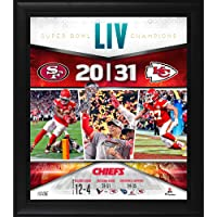 "$49 » Kansas City Chiefs Framed 15"" x 17"" Super Bowl LIV Champions Team Collage - NFL Team Plaques and Collages"