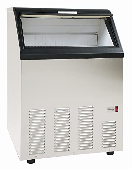 Chefs Exclusive Built-In Undercounter or Freestanding 130 Pound Per Day Clear Bullet Commercial Stainless