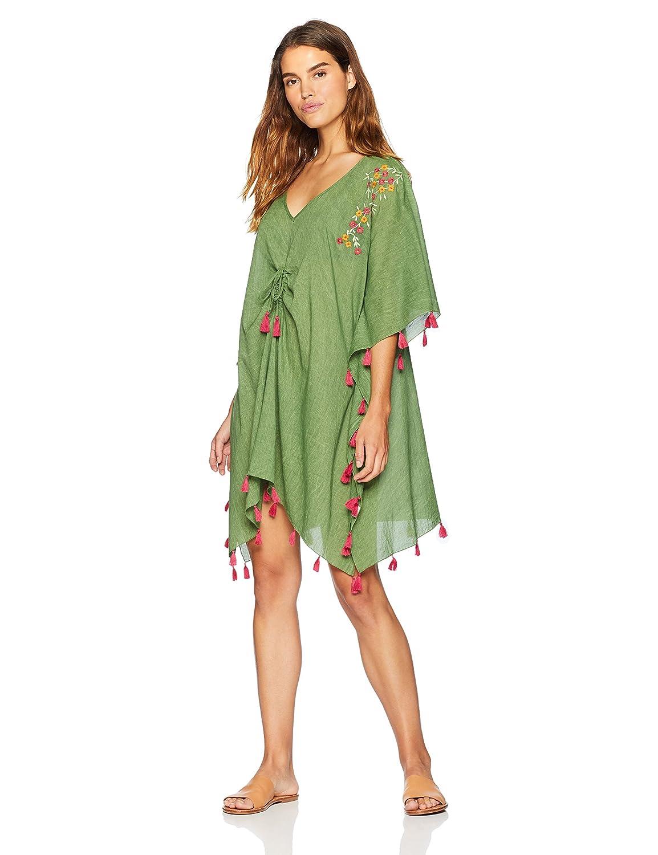 c9f020f238afc7 Amazon.com: Wild Oasis Beachwear Women's Cotton Embroided Tassels Kaftan  Swimsuit Beach Cover Up: Clothing