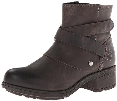 Clarks Mansi Calla Womens Grey Leather Boot 5-MEDIUM