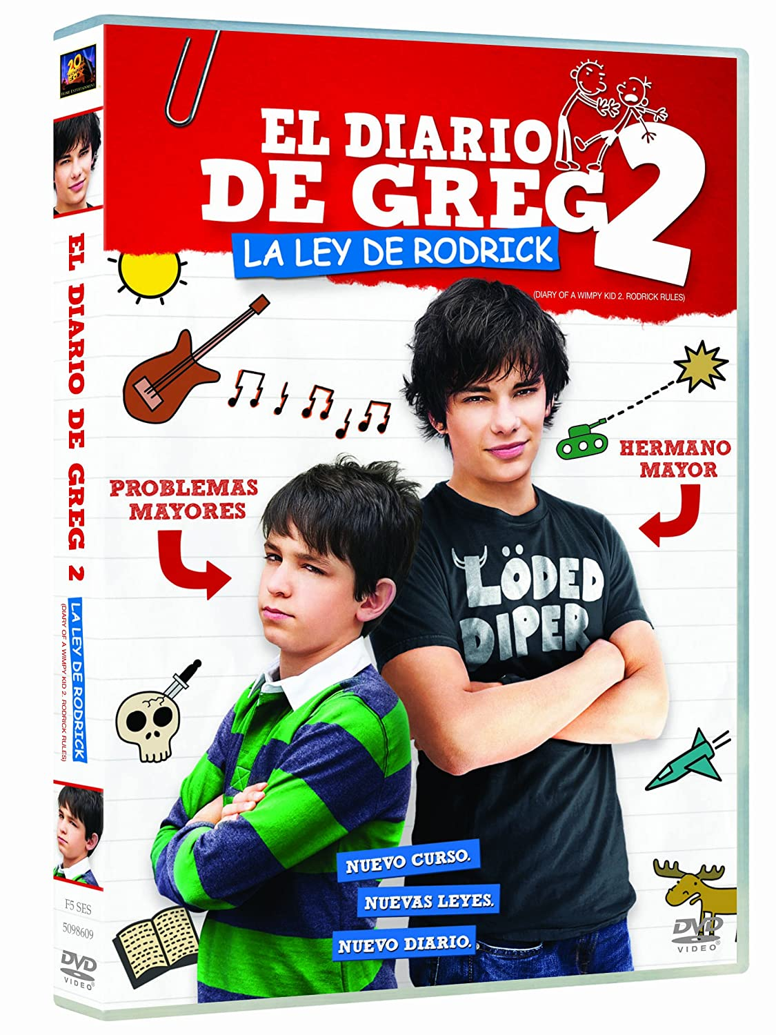 El Diario De Greg 2 La Ley De Rodrick Dvd Amazon Es Zachary Gordon Devon Bostick Rachael Harris Robert Capron Steve Zahn David Bowers Zachary Gordon Devon Bostick Nina Jacobson Bradford Simpson Jeff