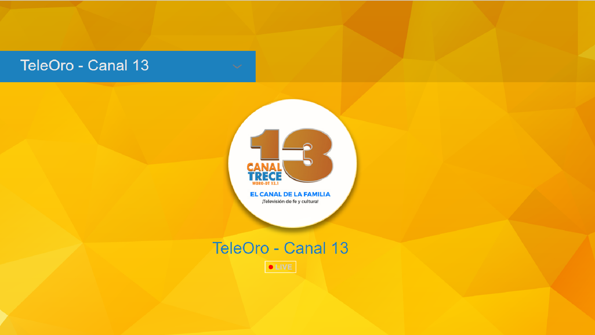 TeleOro - Canal 13: Amazon.es: Appstore para Android