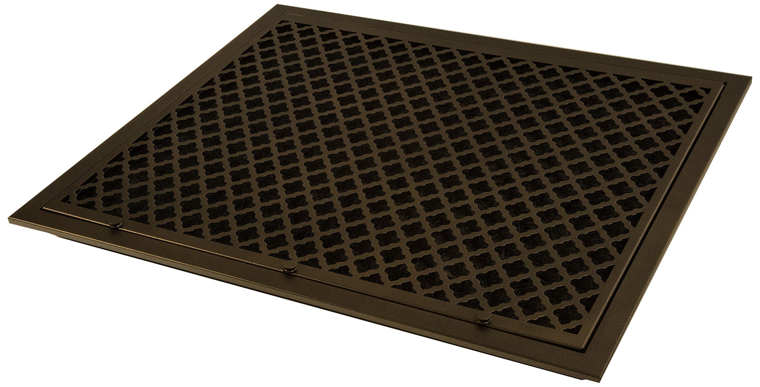 SteelCrest BTU25X20FFORB Bronze Series Designer Filter Return Vent with Hinged Door, Oil Rubbed Bronze