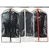 Hangerworld Lot de 6 housses de protection transparentes zippées pour costumes/manteaux