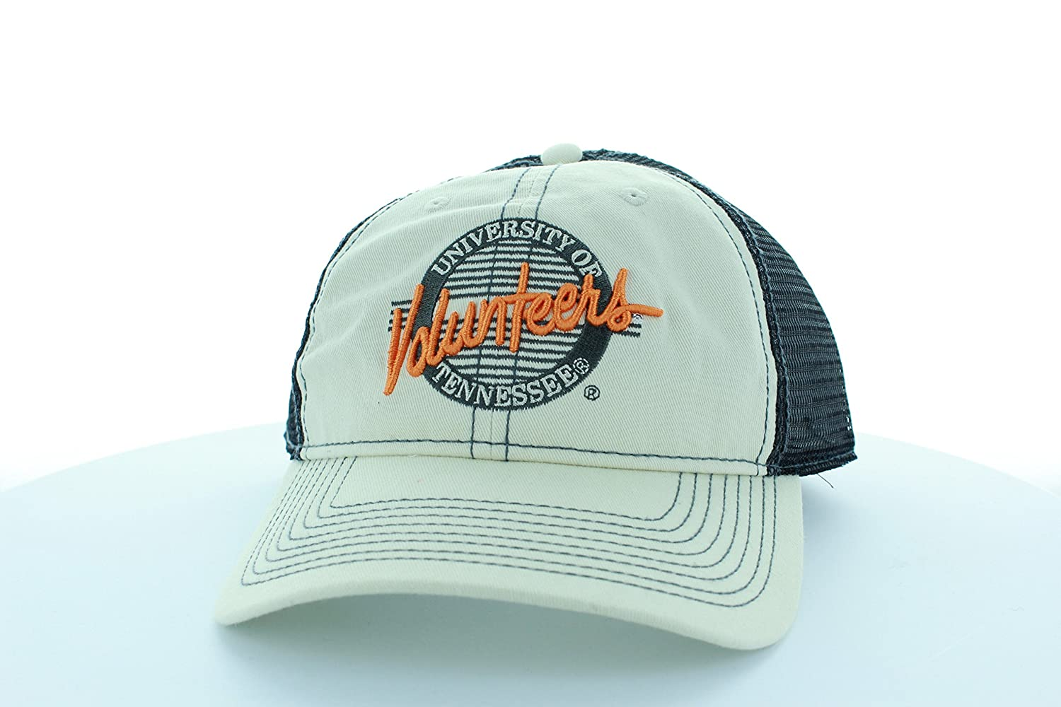 Tennessee Volunteers Stone//Gray Circle Hat with Mesh Trucker Style