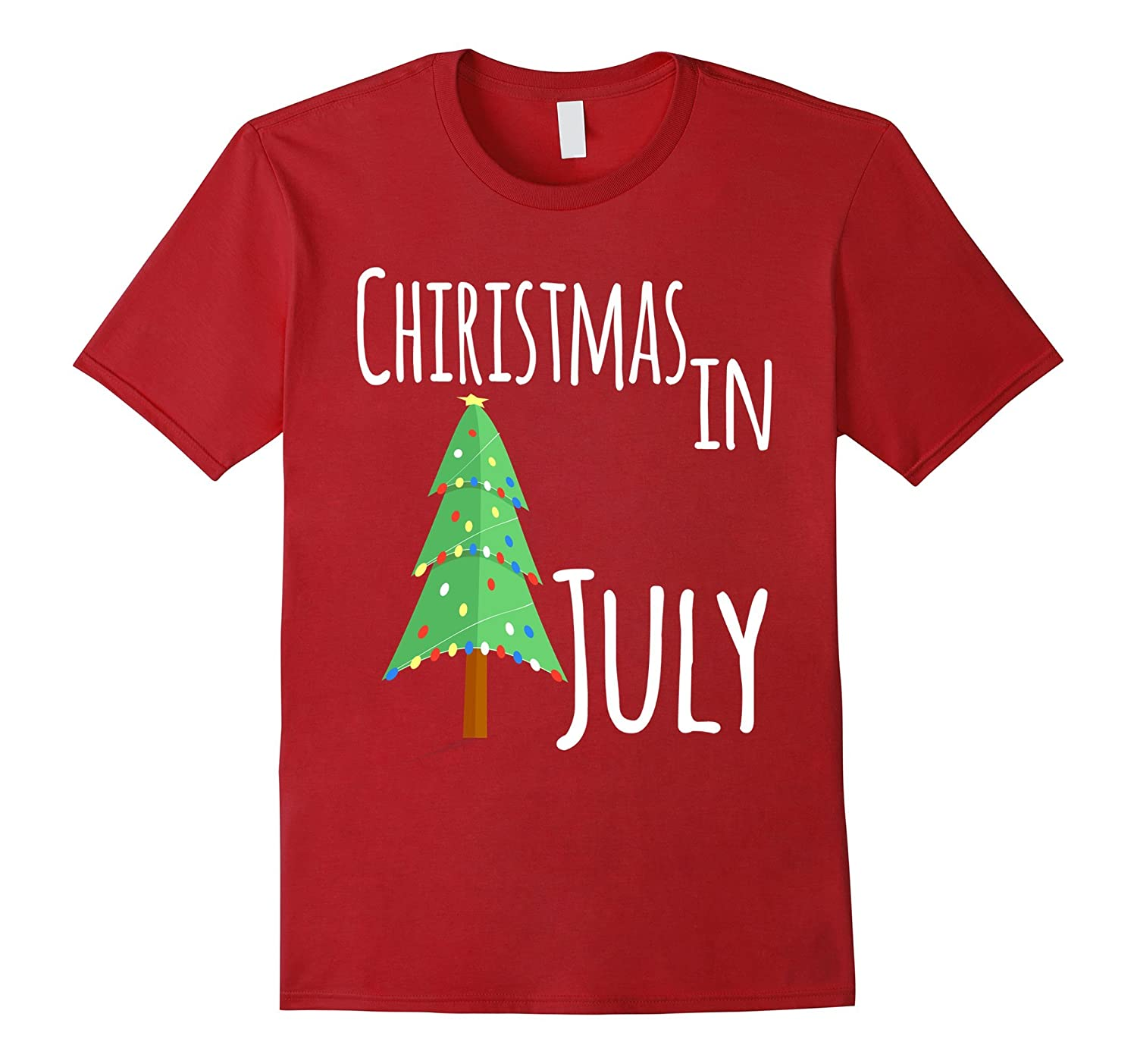 Christmas in July Novelty T-Shirt-PL