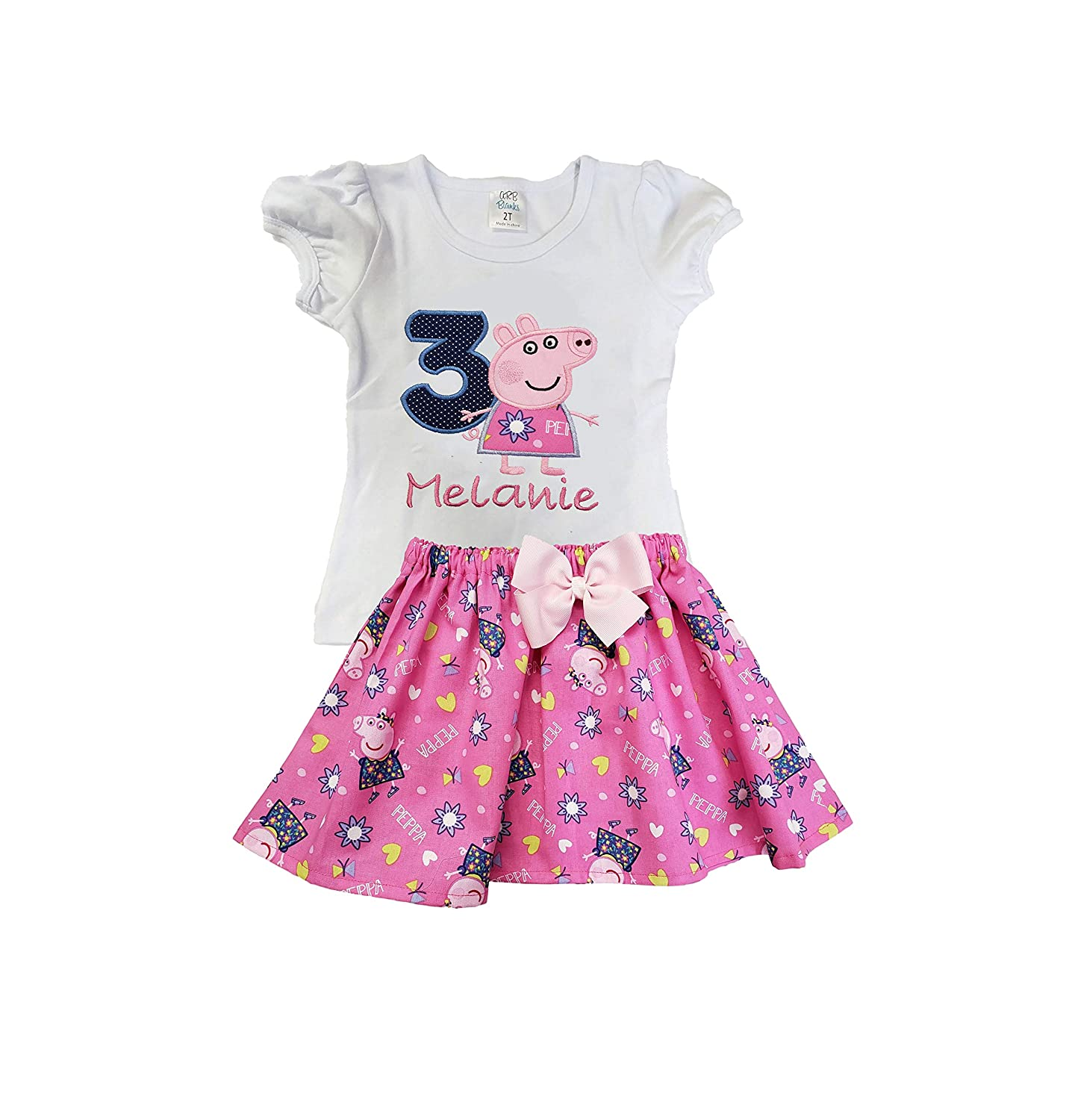 Girl Peppa Pig tutu birthday outfit Girl Peppa pig Tutu dress Girl Tutu dress Girl Peppa Pig outfit