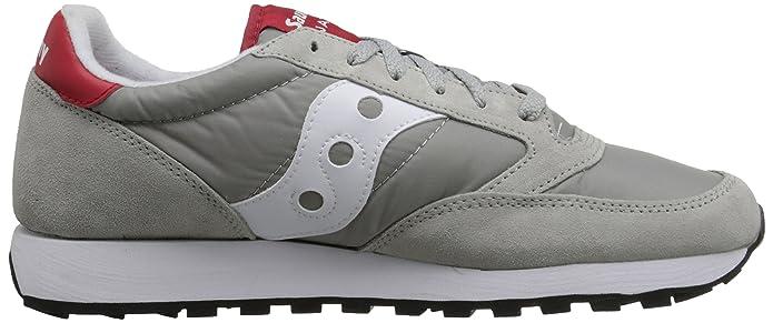 Zapatillas para hombre Saucony Jazz Original - Grey/White/Red (46 EU): Amazon.es: Zapatos y complementos