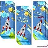 3x 4 Weltall Lesezeichen I dv_254 I 3 Motive I 12er Set Lesemarke Leselitze Rakete Jungs Schulanfang Schultüte Schulstart Mitgebsel Schul-Bücher